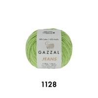 Пряжа Gazzal Jeans (1128 светло-зелёный)