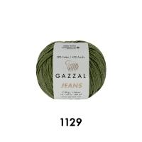 Пряжа Gazzal Jeans (1129 оливка)