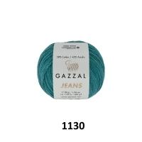 Пряжа Gazzal Jeans (1130 петроль)