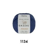 Пряжа Gazzal Jeans (1134 королевский синий)