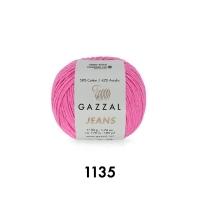 Пряжа Gazzal Jeans (1135 розовый)