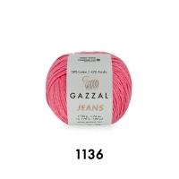 Пряжа Gazzal Jeans (1136 тёмно-розовый)