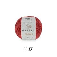 Пряжа Gazzal Jeans (1137 марсала)