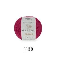 Пряжа Gazzal Jeans (1138 тёмная фуксия)