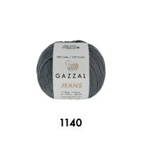 Пряжа Gazzal Jeans (1140 серый)