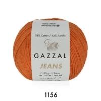 Пряжа Gazzal Jeans (1156 тыква)