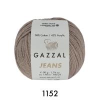 Пряжа Gazzal Jeans (1152 бежевый)