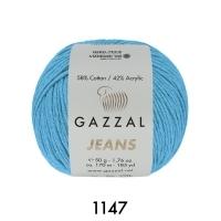 Пряжа Gazzal Jeans (1147 бирюзовый)
