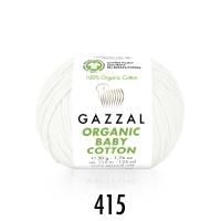 Пряжа Gazzal Organic Baby Cotton (415 белый)