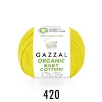 Пряжа Gazzal Organic Baby Cotton (420 желтый)