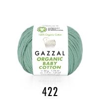 Пряжа Gazzal Organic Baby Cotton (422 мятный)