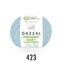Пряжа Gazzal Organic Baby Cotton (423 светло-голубой)