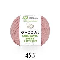 Пряжа Gazzal Organic Baby Cotton (425 розовый)