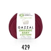 Пряжа Gazzal Organic Baby Cotton (429 винный)
