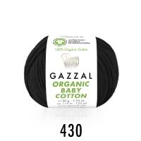 Пряжа Gazzal Organic Baby Cotton (430 чёрный)