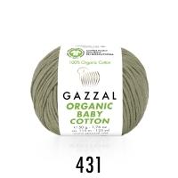 Пряжа Gazzal Organic Baby Cotton (431 бежевый)
