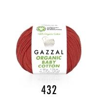Пряжа Gazzal Organic Baby Cotton (432 ярко-терракотовый)