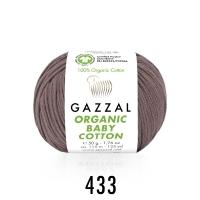 Пряжа Gazzal Organic Baby Cotton (433 сухая роза)