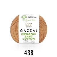 Пряжа Gazzal Organic Baby Cotton (438 луковый)