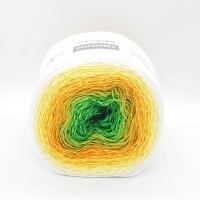 Пряжа YarnArt Rosegarden (303 зелёный/жёлтый/крем)