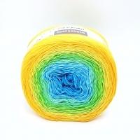 Пряжа YarnArt Rosegarden (310 желтый-зеленый-голубой)