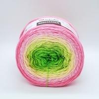 Пряжа YarnArt Rosegarden (314 розовый-желтый-зеленый)