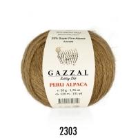 Пряжа Gazzal Peru Alpaca (2303 карамель)