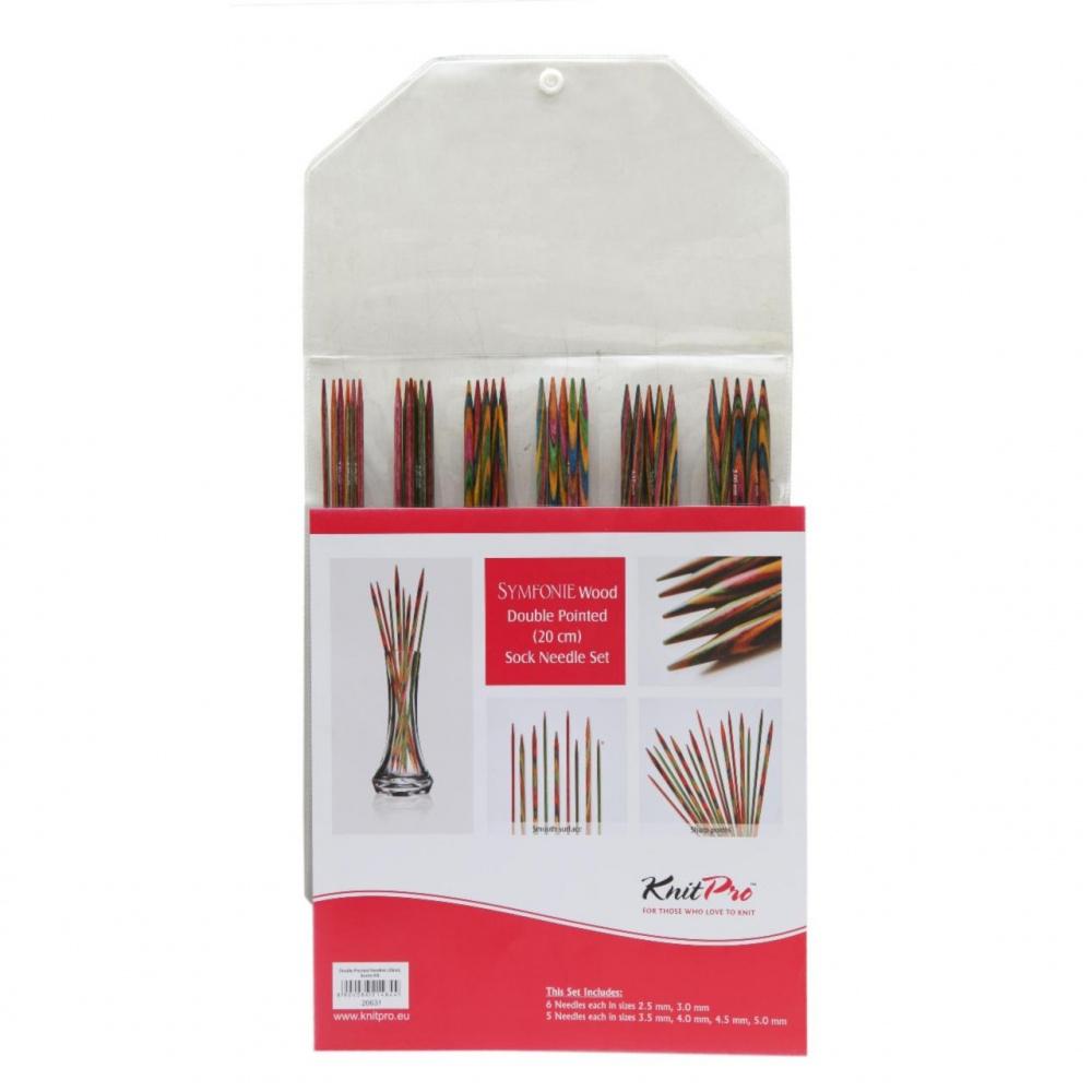 20631 Набор деревянных носочных спиц 20 cm Symfonie Wood KnitPro