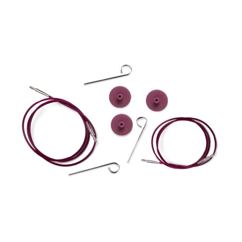 10500 Кабель 200 mm для создания круговых спиц длиной 40 cm KnitPro