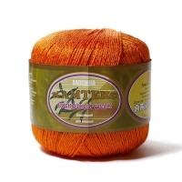 Пряжа Камтекс Вискозный шелк блестящий (035 оранжевый)