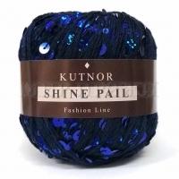 Пряжа Кутнор Шайн Пэйл пайетки на хлопке (076 синие)