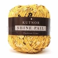 Пряжа Кутнор Шайн Пэйл пайетки на хлопке (130 желтые)
