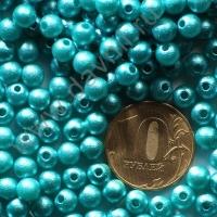 Бусины матовые 6 мм голубые 41