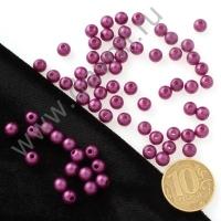 Бусины матовые 6 мм фиолетовые 34