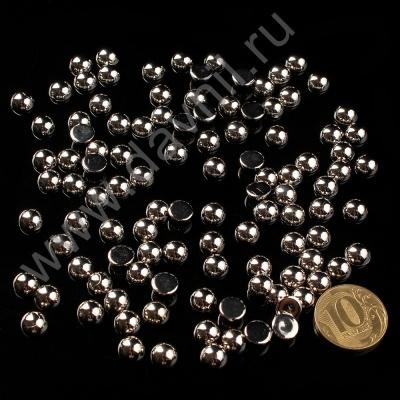 Полубусины Круг 8 мм серебряные