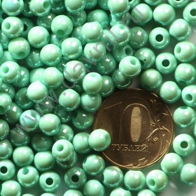 Бусины акрил глянцевые 6 мм зеленые 79