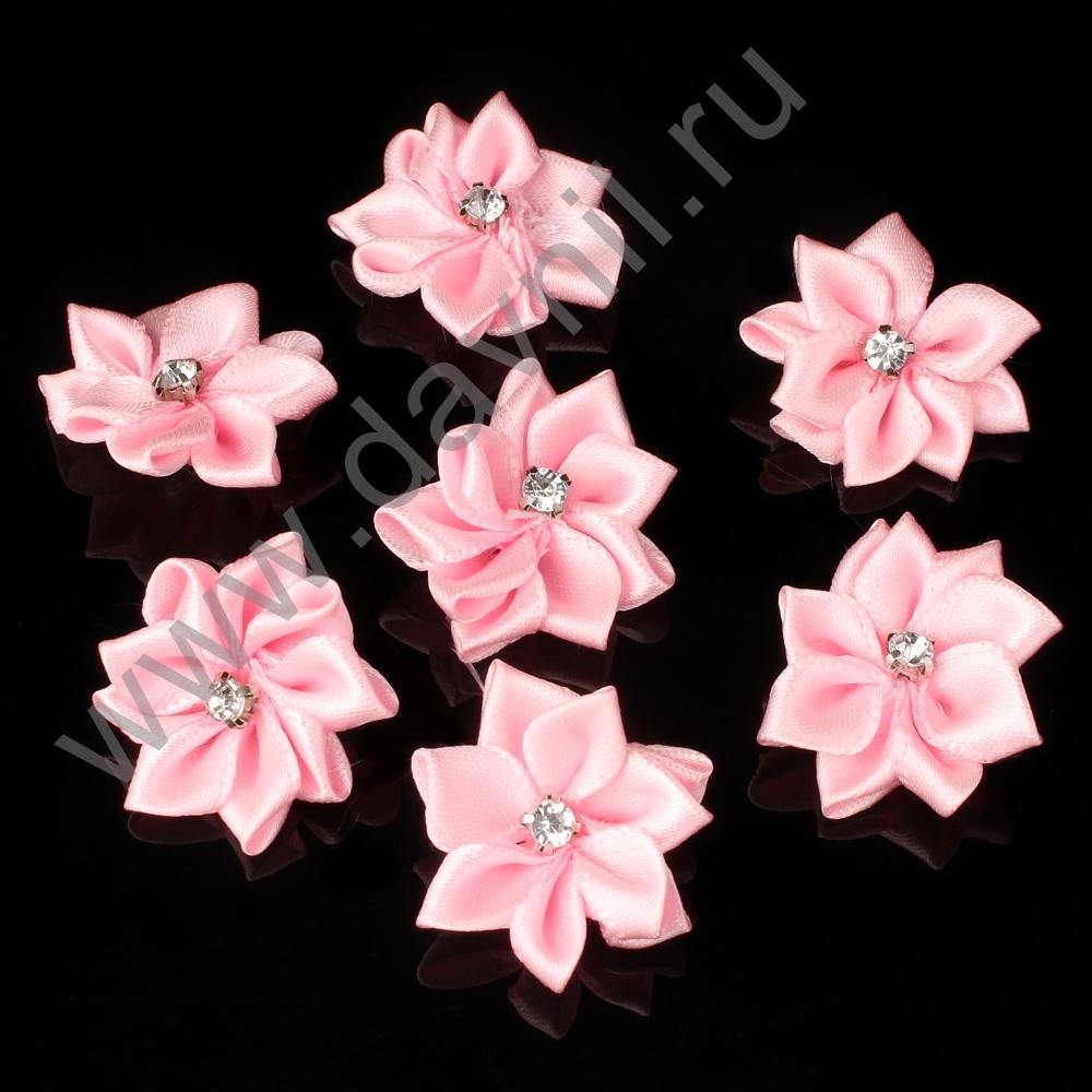 Хризантемы атласные 3 см розовые 123