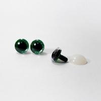 Глазки винтовые в ассортименте с искоркой 18 мм (зеленые)