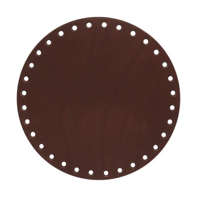 Дно для сумки кожаное D19см 100%кожа №505 св.коричневый 541019
