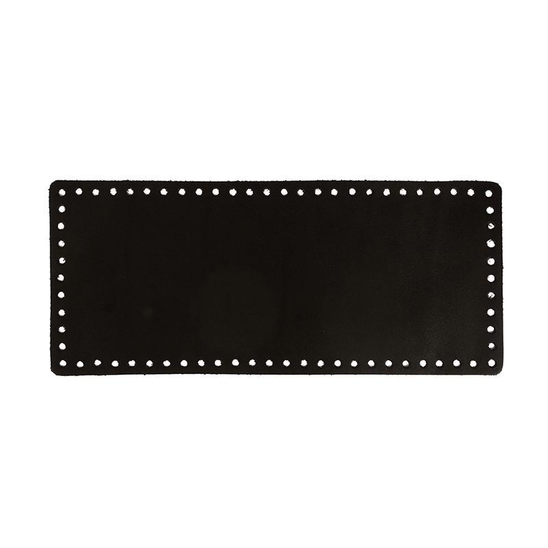 Донце для вязаной сумки прямоугольное 13х31см 100% натур.кожа ZKS-002 001 черный