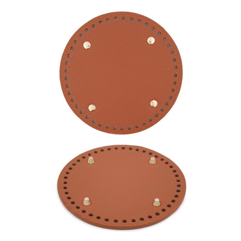 Основа для вязаных изделий кожзам Круглая 15см коричневый 6031402