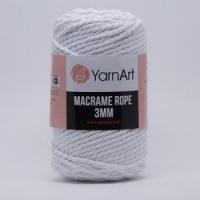 Пряжа YarnArt Macrame Rope 3mm (751 белый)