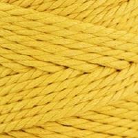 Пряжа YarnArt Macrame Rope 5mm (764 желтый)