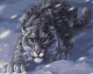 Картина по номерам GX4948 Снежный барс на охоте