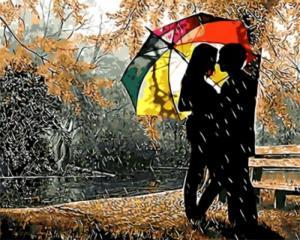 Картина по номерам GX8840 Под разноцветным зонтом