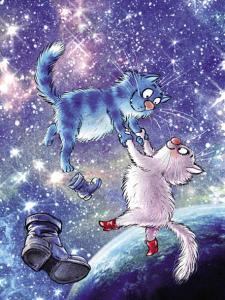 Картина по номерам ME1131 Коты в космосе