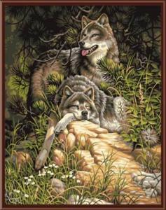 Картина по номерам GX6177 Волки