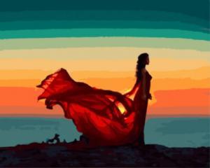 Картина по номерам GX8786 Девушка на закате