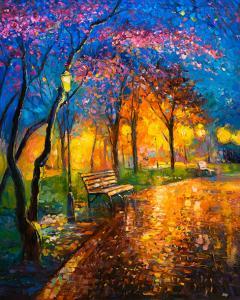 Картина по номерам MG2411 Вечерний теплый парк