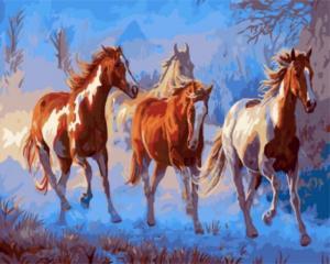 Картина по номерам GX8467 Лошади в сумерках Криса Каммингса